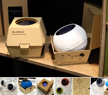 L'eco-imaballaggio di Solarbulb