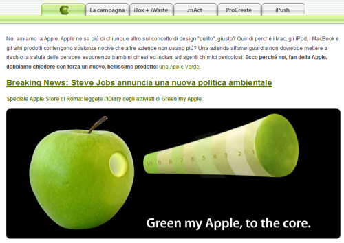 Home Page sito italiano Green my Apple