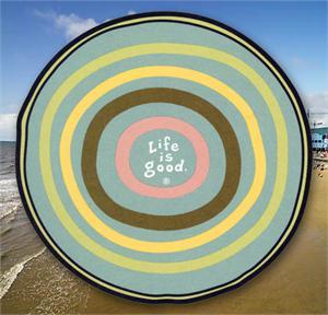 Life_is_Good_Beach_Towel_Round