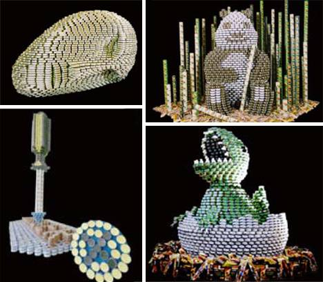 Canstruction-Sculptures