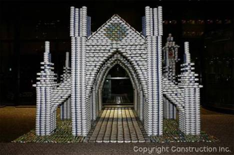 Canstruction-cathedral
