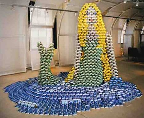 Canstruction-mermaid