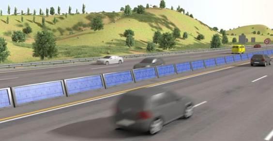 autostrada pannelli solari