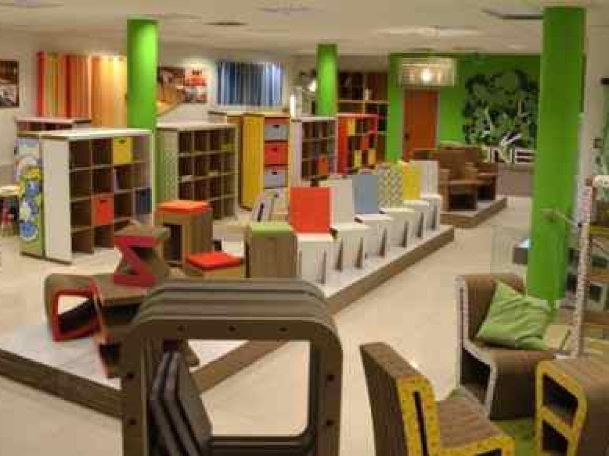 Mobili Per Ufficio Roma Nord.Mobili In Cartone Riciclato Di Design Targati Naj Oleari Greenme It