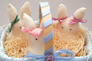 cesto pasqua coniglietti