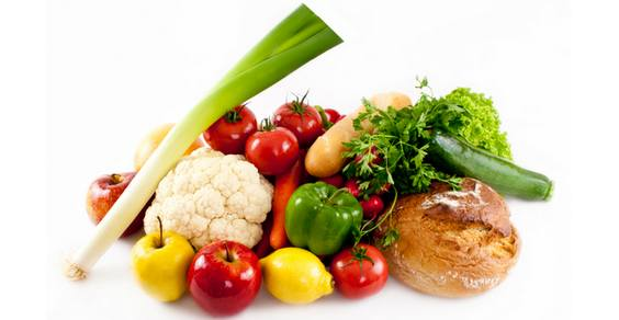 frutta verdura pane