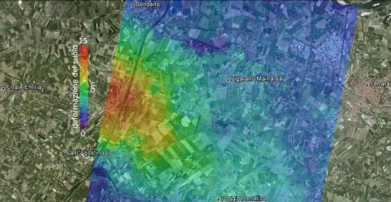 mappa spostamenti IREA