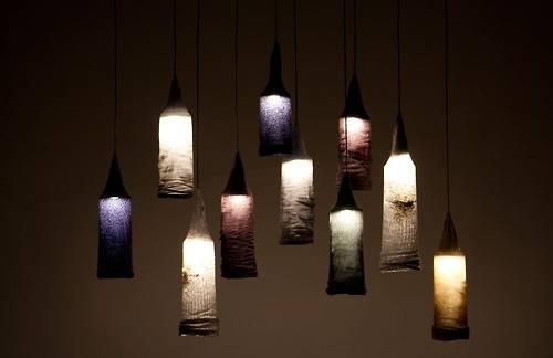 riciclo vecchi calzini lampade