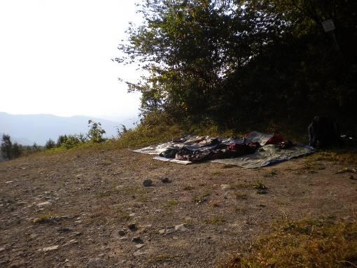 il nostro letto al passo del Borgallo