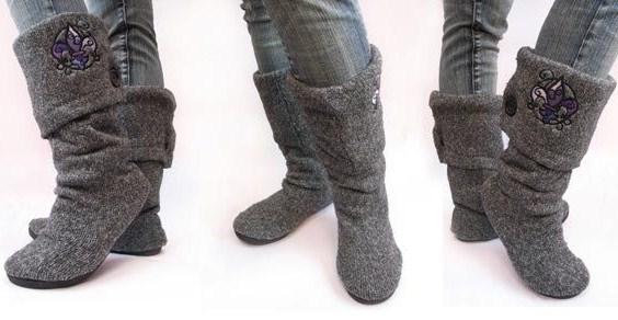 Come realizzare stivali e pantofole riciclando la lana dei