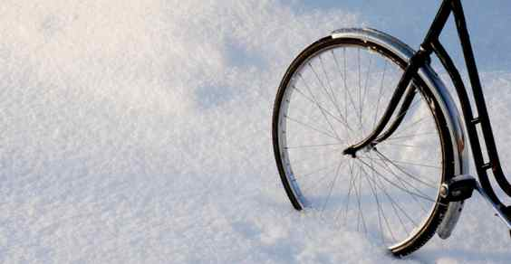 bicicletta neve