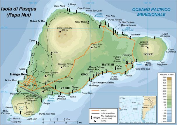 cartina isola di pasqua