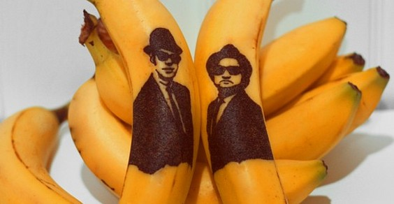 dipingere sulle banane