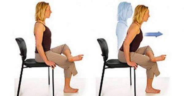 esercizio sedia