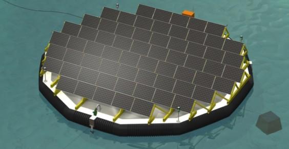 isola galleggiante fotovoltaica