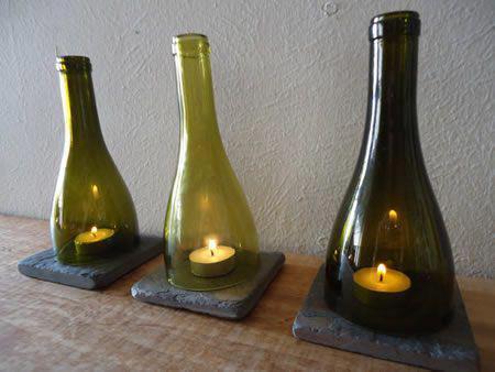 bottiglie vetro candele