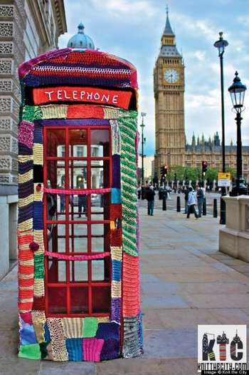 guerrilla knitting london