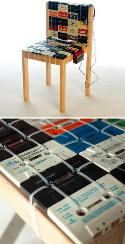 musicassette 1 sedia