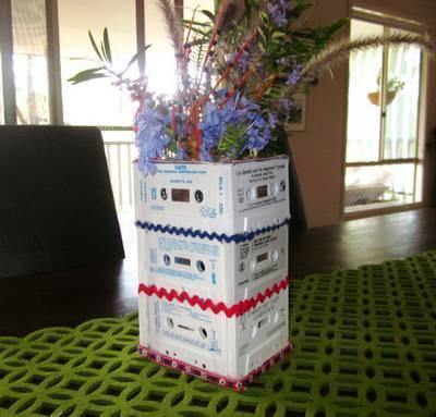 musicassette 9 vaso fiori