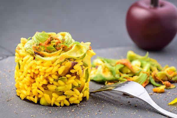risotto zucchine zafferano