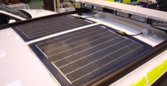 pannelli solari ambulanza