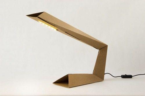 lampada cartone