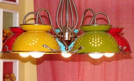 scolapasta lampadario