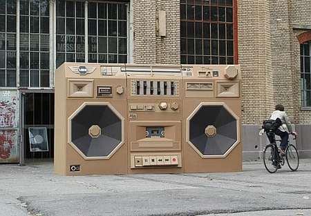 stereo cartone
