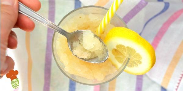 granita al limone