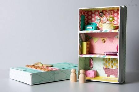 scatole scarpe casa bambole