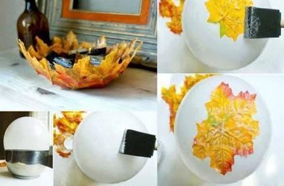 fruttiera 6 centrotavola foglie secche