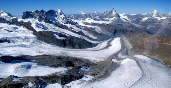 ghiacciai alpini fuliggine