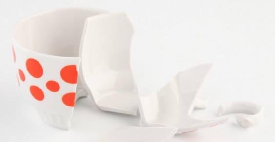 riciclo frammenti vetro ceramica