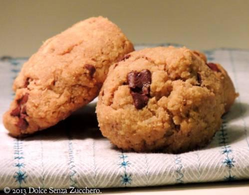 Biscotti con Gocce di Cioccolato senza zucchero