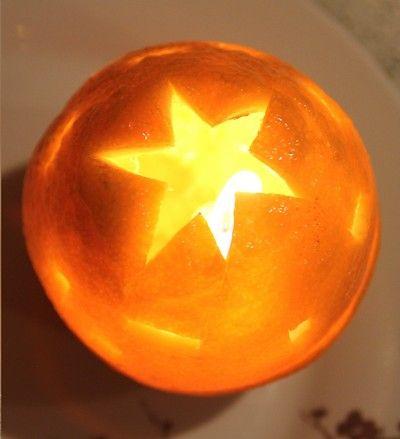candele 1 arancia paralume