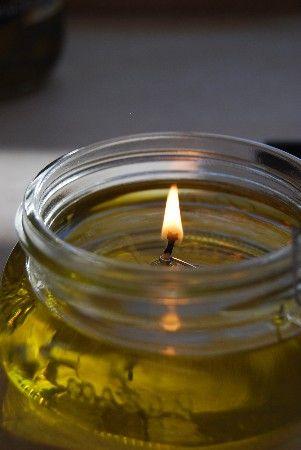 candele 2 barattolo di vetro