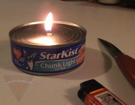 candele 3 scatoletta tonno