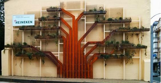 giardino verticale albero cover
