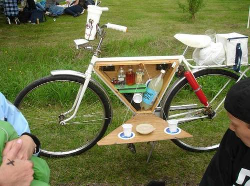 bici picnic 1 pedal on
