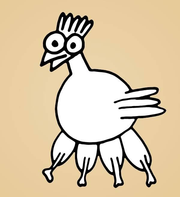 pollo 4 zampe