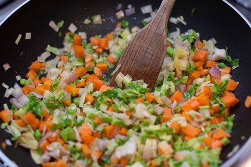 zuppa miso tofu cottura verdure