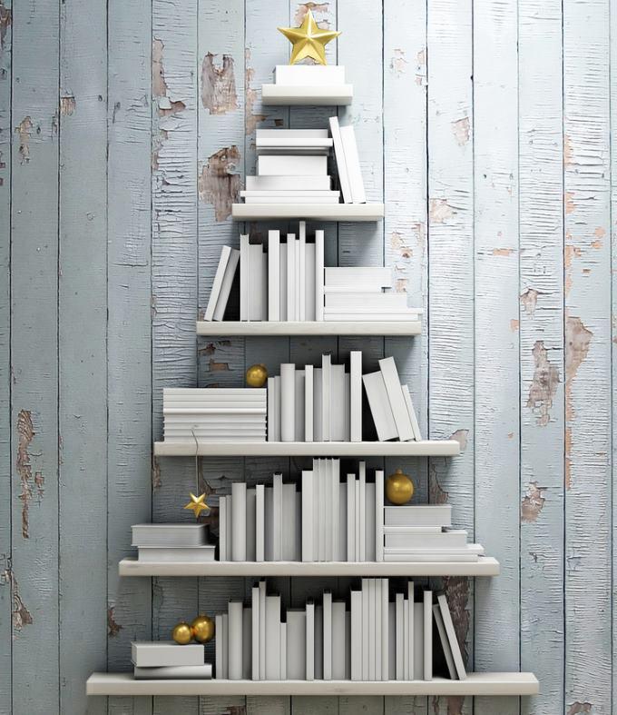 alberi natale libreria