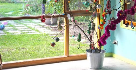 albero di natale rami secchi