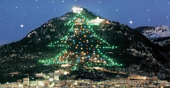 Albero Di Natale Gubbio.A Gubbio L Albero Di Natale Piu Grande Del Mondo Si Illumina Grazie Al Fotovoltaico Greenme