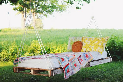 pallet swing bed homemade