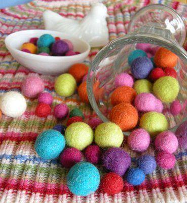 palline di feltro