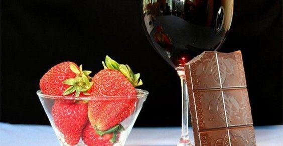 fragole cioccolato vino diabete