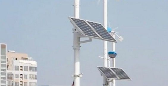 lampioni fotovoltaici eolici cina