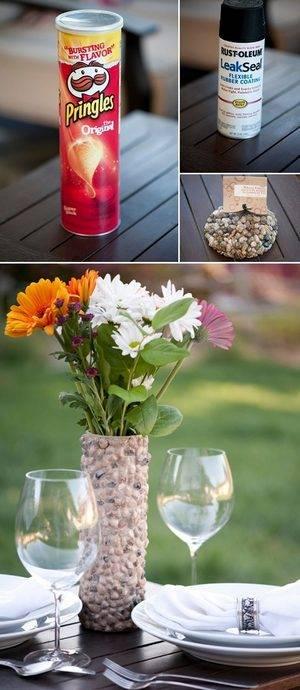 pringles vaso fiori