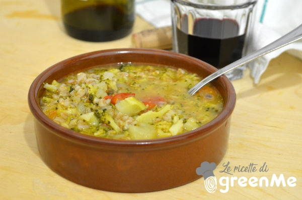 zuppa farro e broccoli